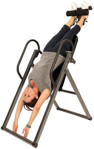 hanging upside down